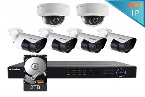 Security Camera Laview 4 bullet 2 domes