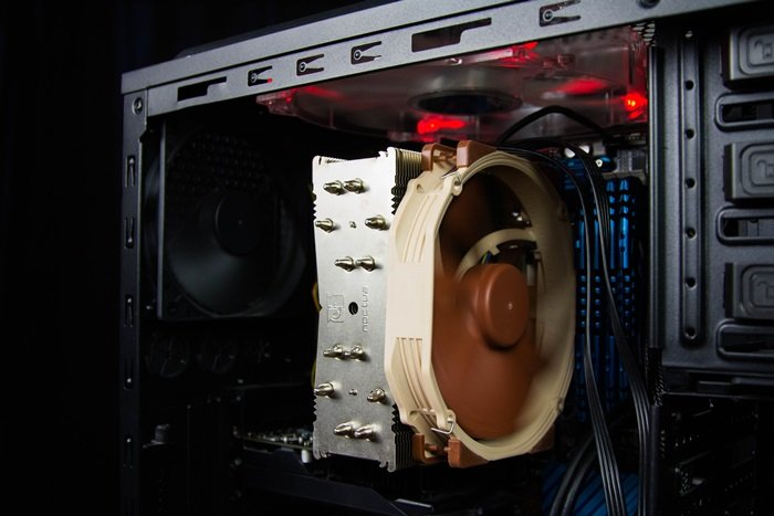 repairing a computer desktop inside hardware
